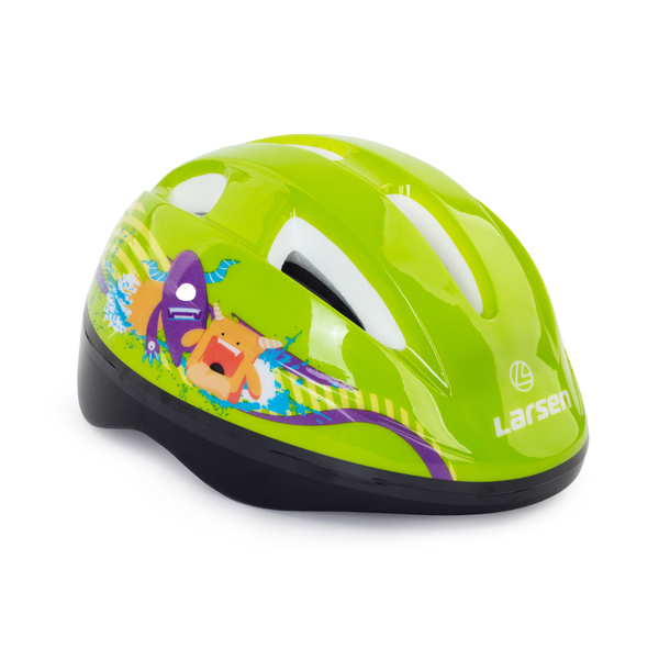 Шлем роликовый Larsen Kiddy Green