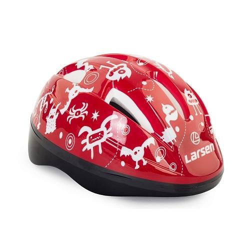 Шлем роликовый Larsen Kiddy Red