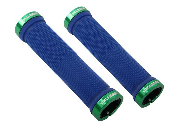 Грипсы  Vinca Sport H-G119 синие 129мм