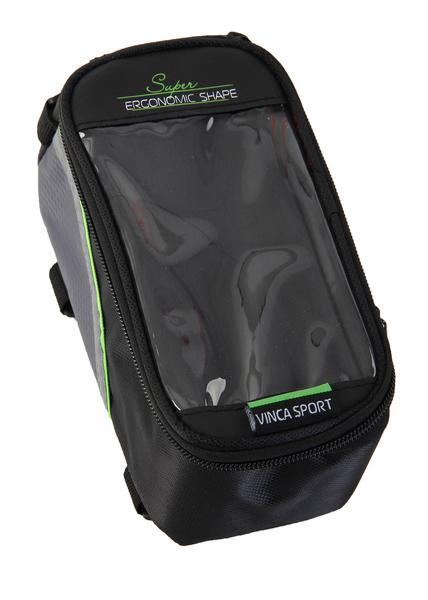 Сумка на раму Vinca Sport FB 07M черный/зеленый 190х90х95мм