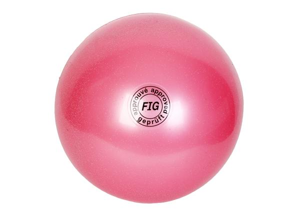 Мяч гимнастический d19 см розовый металлик