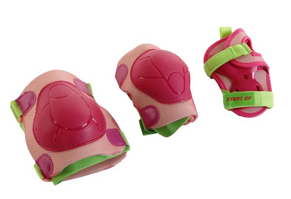 Защита роликовая Start UP Fun розовая