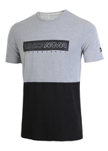 Футболка мужская Under Armour Baseline Wordmark Tee Steel Light