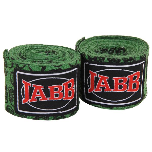 Бинты боксерские х/б Jabb JE-3030 зеленый/черепа 3,5м