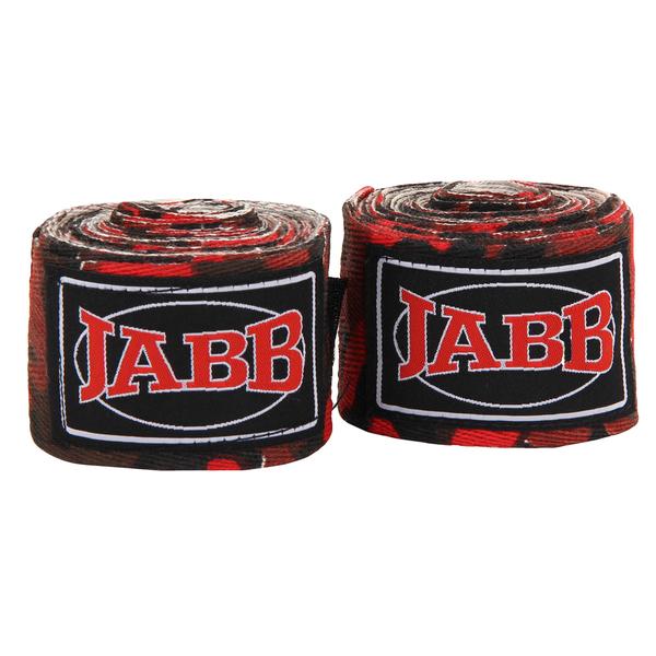 Бинты боксерские х/б Jabb JE-3030 красный/камуфляж 3,5м
