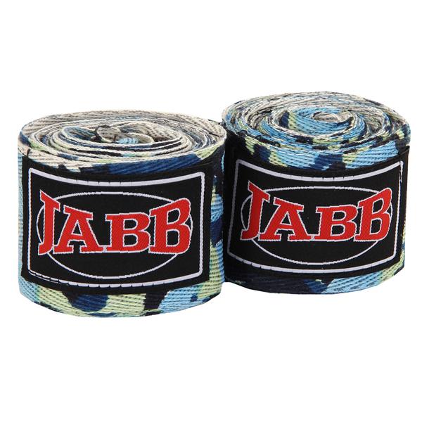 Бинты боксерский х/б Jabb JE-3030 синий/камуфляж 3,5м