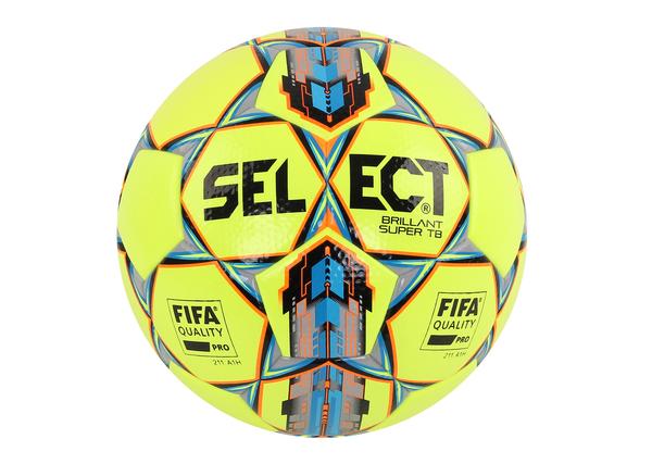 Мяч футбольный Select Brilliant Super TB желтый