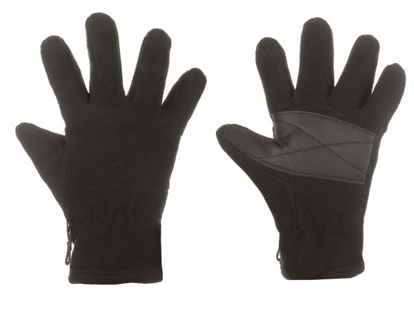 Перчатки детские флисовые утепленные AS4 черные One Size