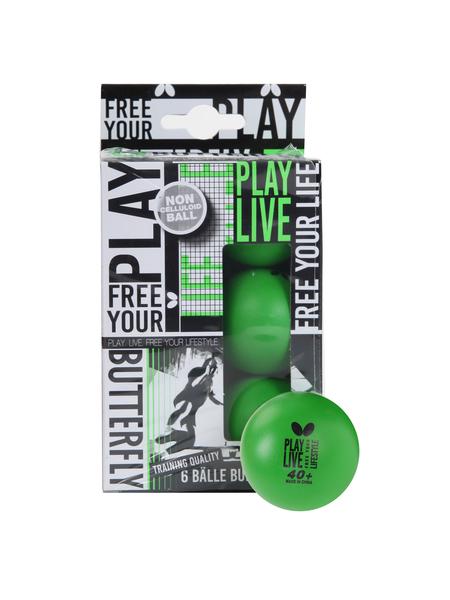 Мячи для настольного тенниса BUTTERFLY 40+  Free your Style, 6шт