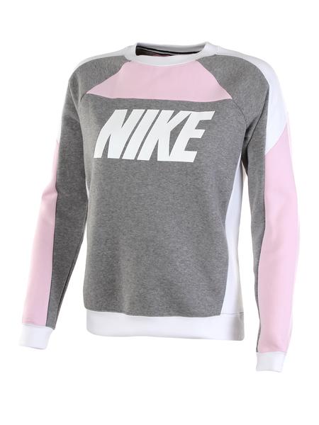 Толстовка женская Nike Sportswear Fleece Color-Block Crew