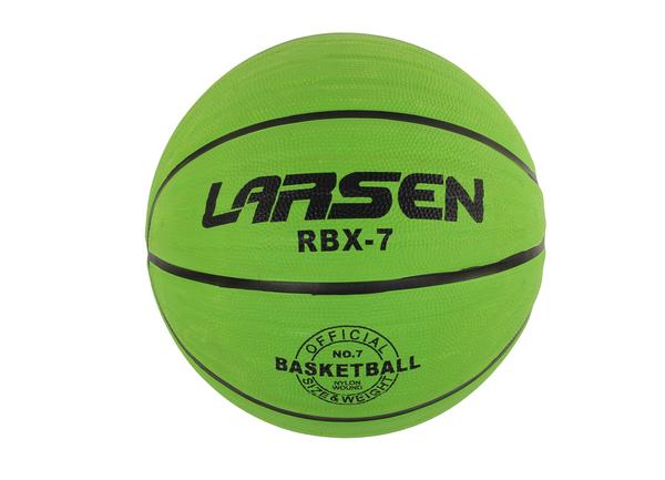Мяч баскетбольный Larsen RBX7 Lime