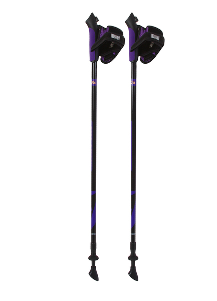 Палки для скандинавской ходьбы Ecos телескопические фиолетовые