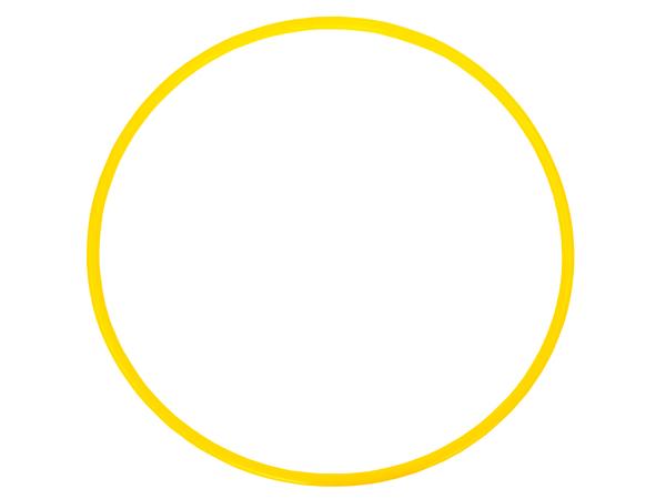 Обруч пластмассовый 100 см желтый