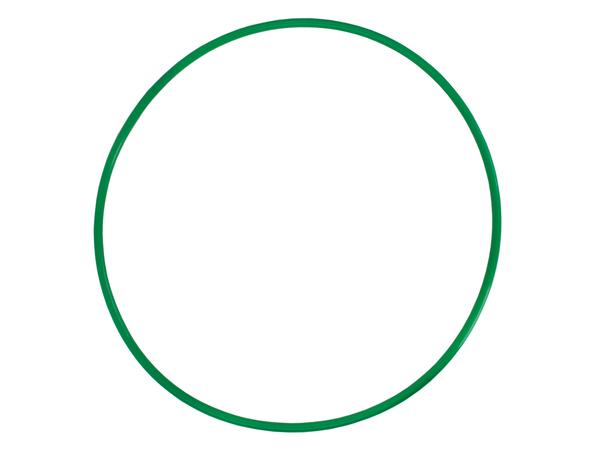 Обруч пластмассовый 100 см зеленый