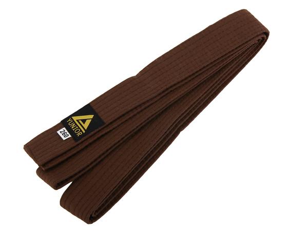 Пояс для кимоно YUNIOR коричневый