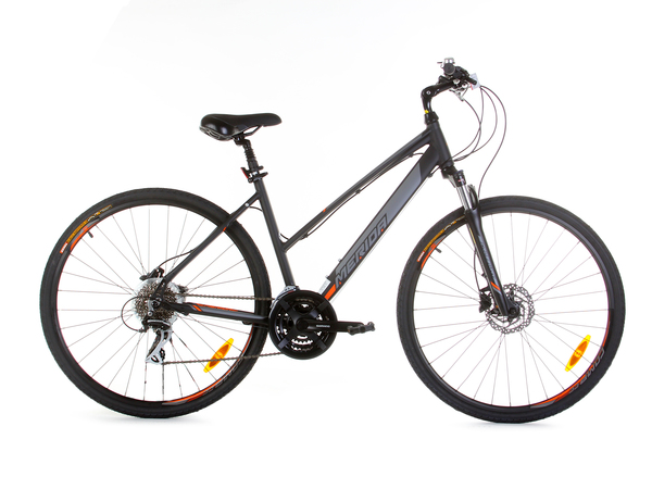 Велосипед Merida Crossway 20-D Lady M(47cm) MattBlack/Orange (19)