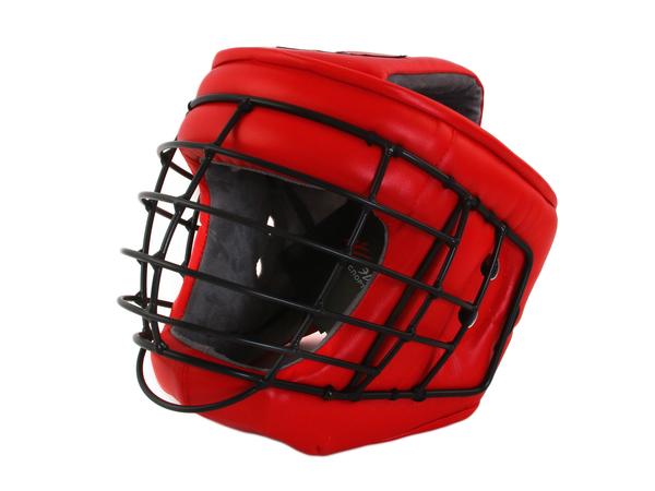 Шлем с маской д/армейского рукопашного боя Ш44LИВ красный L