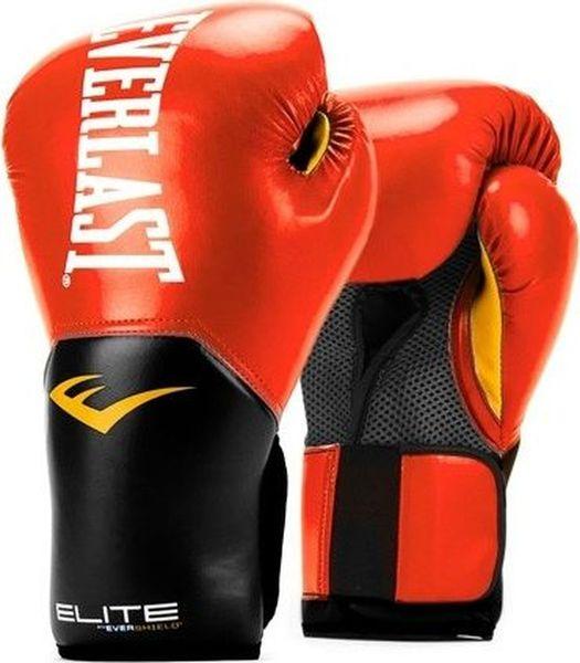 Перчатки боксерские Everlast Elite ProStyle  красные