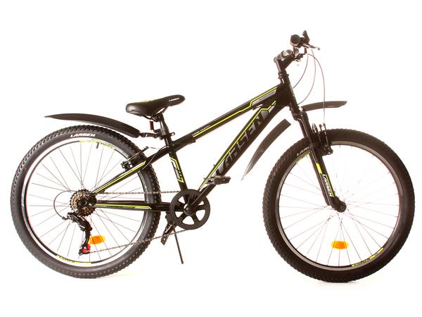 """Велосипед горный Larsen Super Team 24"""" черный/желтый"""