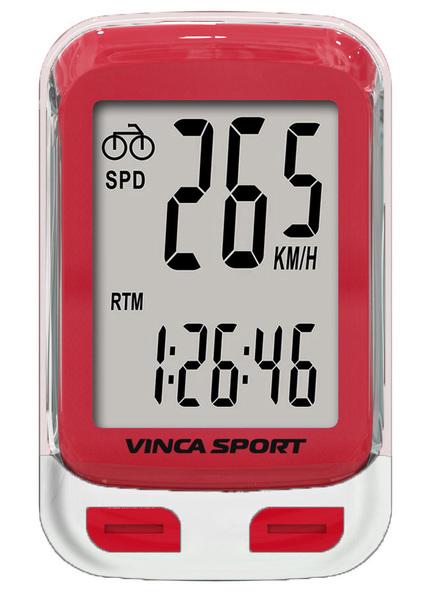 Велокомпьютер Vinca Sport V-3500 проводной красный