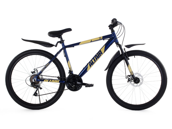 Велосипед горный ALTAIR AL 26 D синий/кремовый