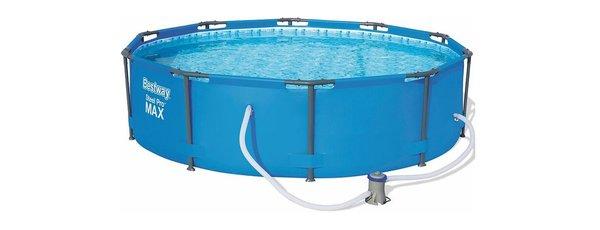 Бассейн каркасный на стойках Bestway Steel Pro MAX 305x76 см фильтр-насос