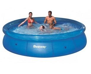 Бассейн надувной Bestway Fast Set 366*76см, 5377 л синяя упаковка