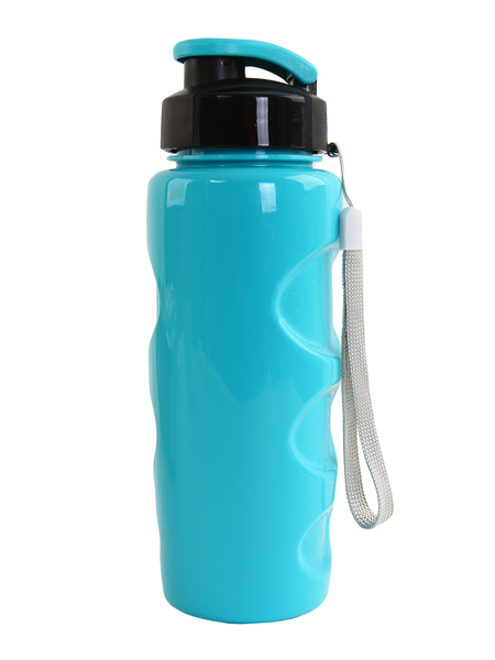 "Бутылка для воды BOOL-BOOL ""HEALTH and FITNESS"" со шнурком, 500 ml. голубая"