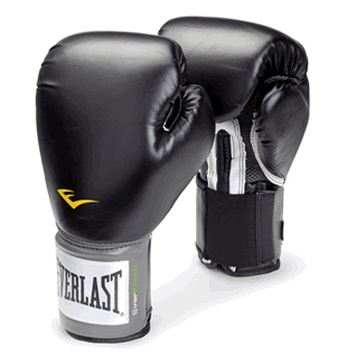 Перчатки боксерские Everlast PU Pro Style Anti-MB 10oz черные