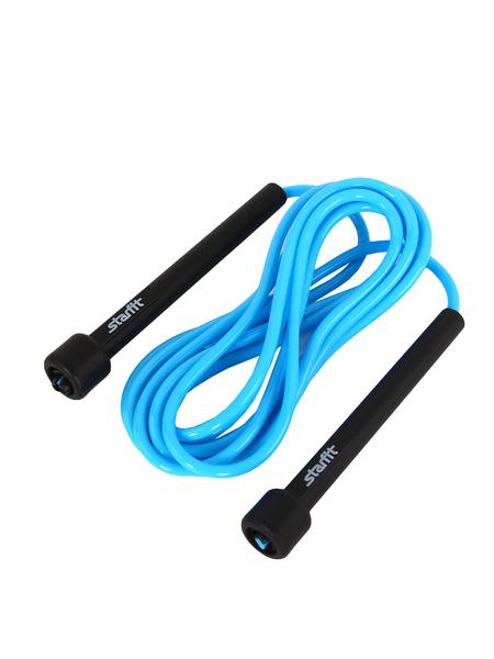 Скакалка STARFIT RP-101 ПВХ с плаcтиковой ручкой, синяя, 3м