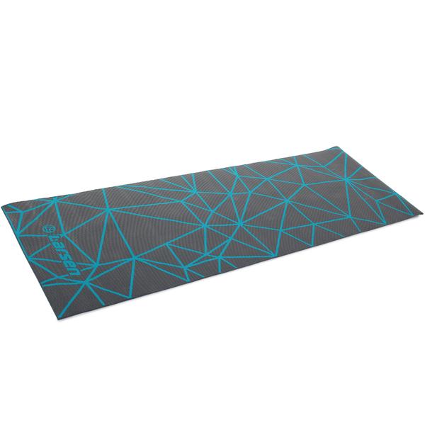 Коврик для фитнеса и йоги Larsen PVC серый с принтом р180х60х0,5см