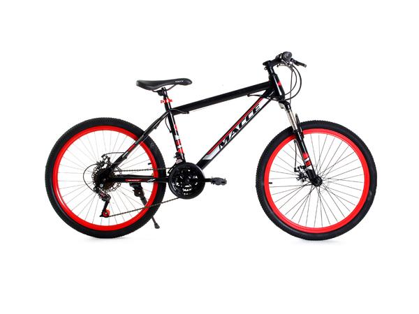 """Велосипед горный Массе 24"""" черный/красный"""