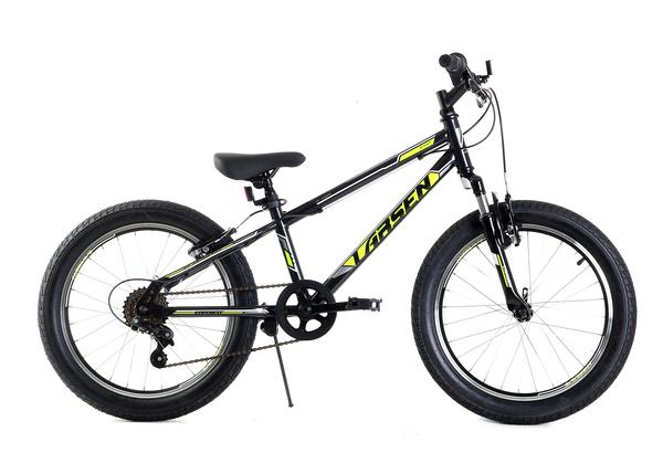 """Велосипед горный Larsen Buggy 20"""" черный/лайм"""