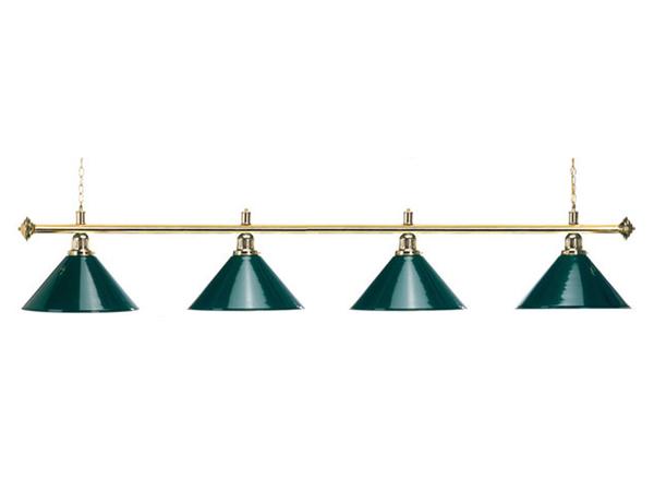 Лампа Start Billiards 4 плафона с зеленой штангой