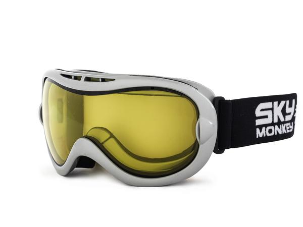 Маска горнолыжная Sky Monkey SR24 серебро