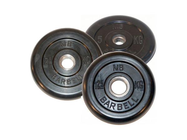Диск обрезиненный d 26 мм MB Barbell 1,25 - 25 кг