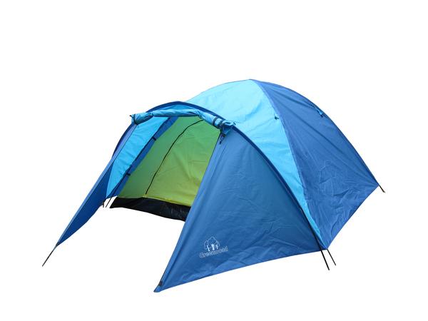Палатка четырехместная Greenwood Target 4 синяя/голубая