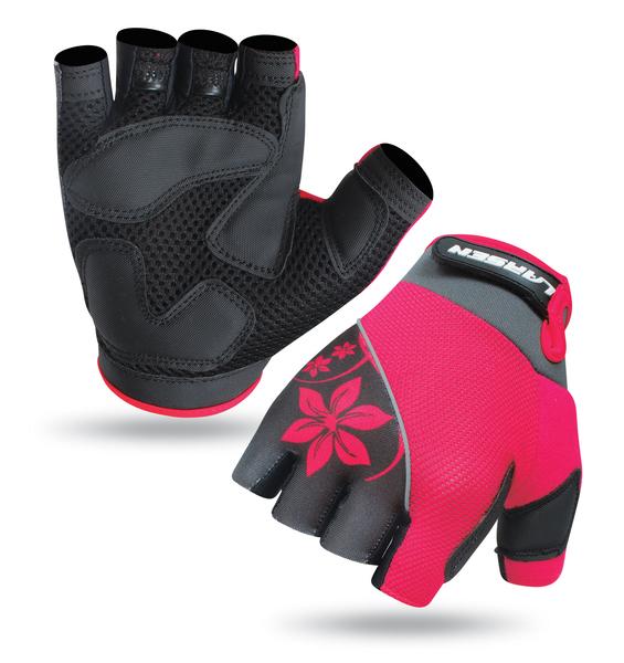 Велоперчатки Larsen 01-1262 розовые