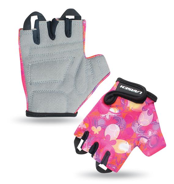 Велоперчатки детские Larsen 01-2842 розовые