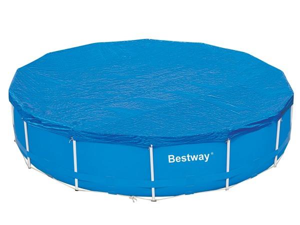 Чехол защитный для бассейна круглого Bestway 58039 на стойках