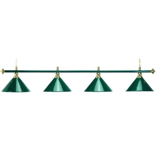 Лампа Start Billiards 4 плафона с зеленой штангой 3-4