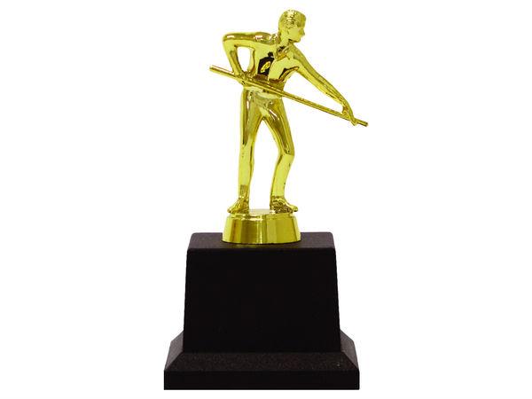 Кубок Бильярд мужской золото 15см