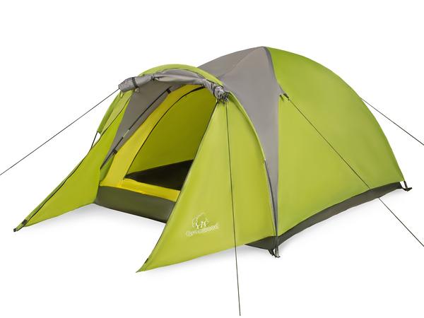 Палатка трехместная Greenwood Target 3 салатовая