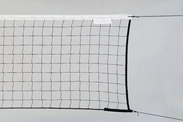 Сетка волейбольная Start Up 1,8 мм с тросом черная