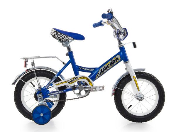 """Велосипед детский Larsen Kids 12"""" cиний"""