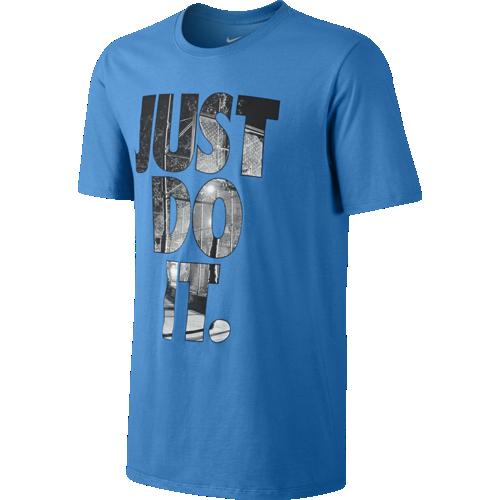"""Футболка мужская Nike Photo Fill """"Just Do It"""" синяя"""