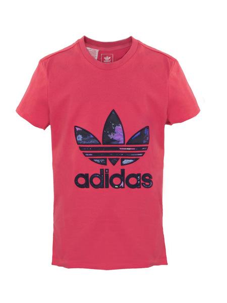 Футболка детская Adidas Basketball Trefoil розовая