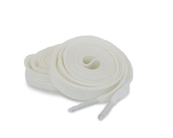Шнурки Corbby плоские светоотражающие белые 120 см