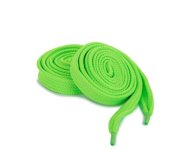 Шнурки Corbby плоские зеленые 120 см
