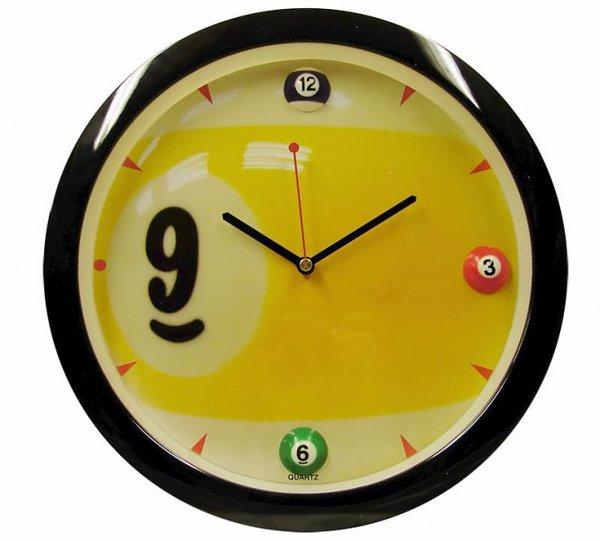 """Часы настенные """"Девятка"""" D29 см черные"""